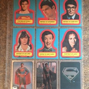 1978 DC Comics Superman Collectible Stickers Lot